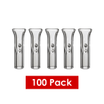 CLEAR GLASS TIPS PINCHED 100 PACK 8MM